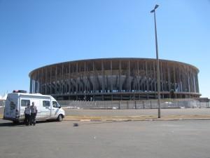 Frente al estadio mundialista donde le fue muy bien a nuestra seleccion
