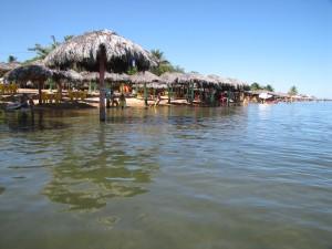 Praia da Prata, donde pasamos el primer día de descanso físico: sol y agua todo el día