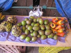 Algunas de las frutas del Amazonas