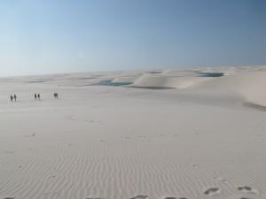 Esto fue lo primero que vimos cuando logramos subir la primer duna
