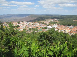 Ciudad de Viscosa vista desde el Mirador en el cual pernoctamos