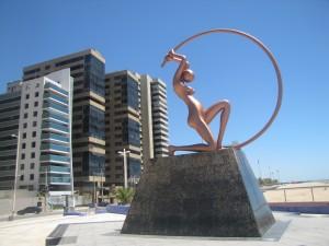 En la costanera de Fortaleza