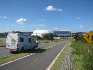 El Arena Pernambuco construido a 20 km de la ciudad de Recife