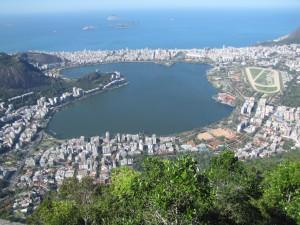 Ipanema y Lagoa desde el Cristo
