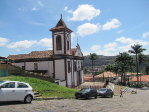 Una iglesia en Diamantina, al norte del estado de Minas