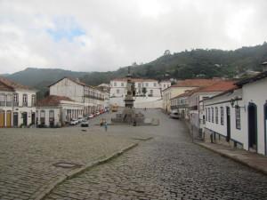 Plaza Tiradentes en Ouro Preto