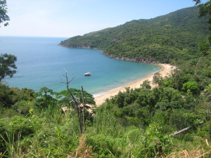 Playa de Jabaquara al norte de Ilhabela
